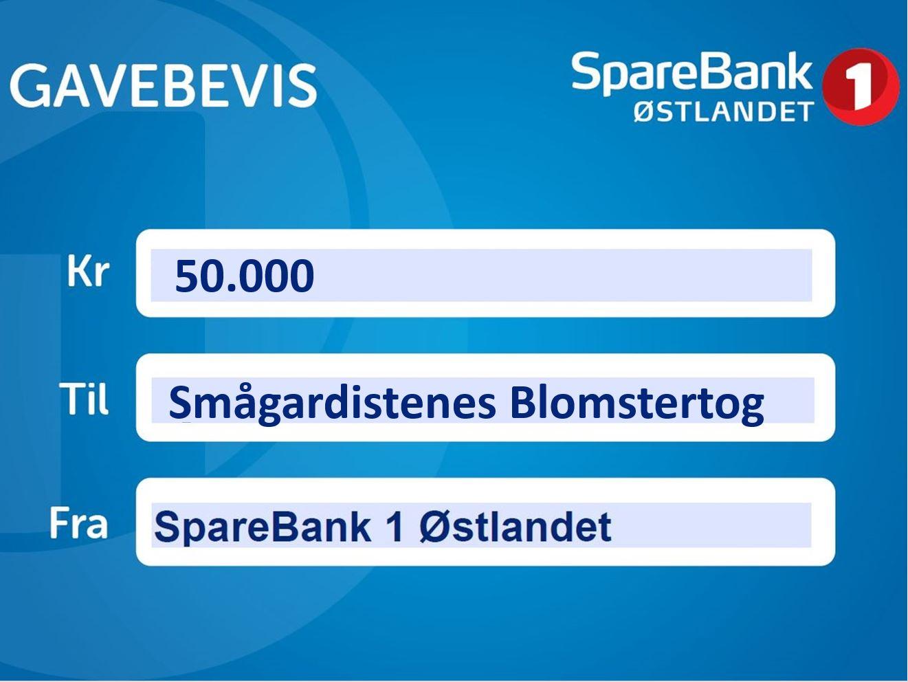 Smågardistene takker Sparebank 1 Østlandet